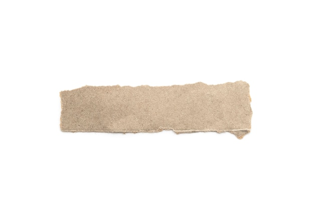 Vara reciclada do ofício de papel em um fundo branco.
