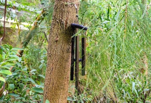 Varas de bambu. sino. sino do vento. sinos de vento carrilhões de vento dourados - sinos de vento suspensos