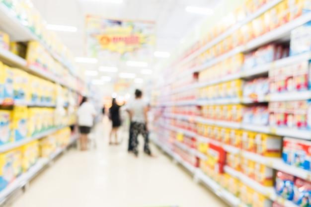 Varejo supermercadista luz prateleira de frutas
