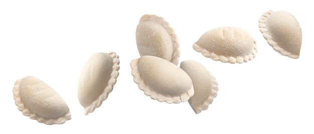 Vareniki, bolinhos crus, pelmeni congelado