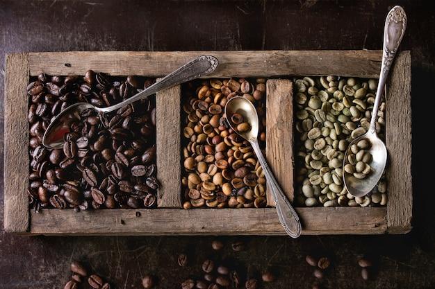 Variação de grãos de café