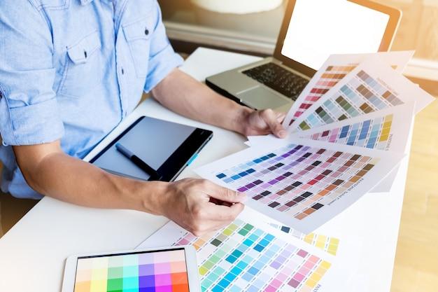 Variação de paleta padrão selecionando amostrador de cartões