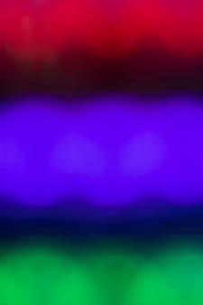 Várias cores em luzes de movimento de néon
