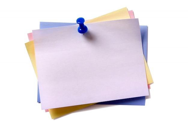 Várias notas adesivas post cores diferentes