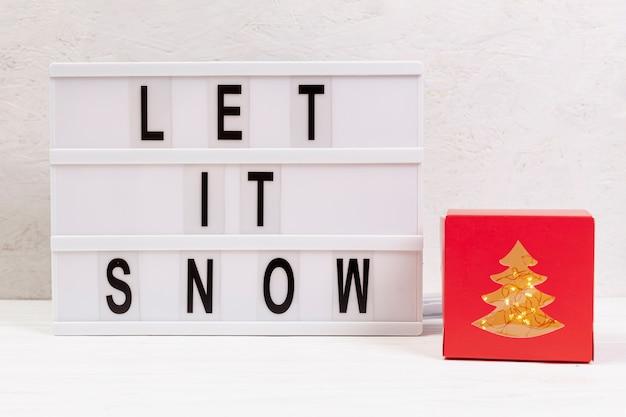 Variedade com deixe nevar sinal e presente