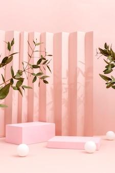 Variedade criativa de palco minimalista