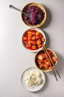 Variedade de alimentos fermentados