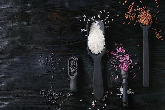 Variedade de arroz colorido