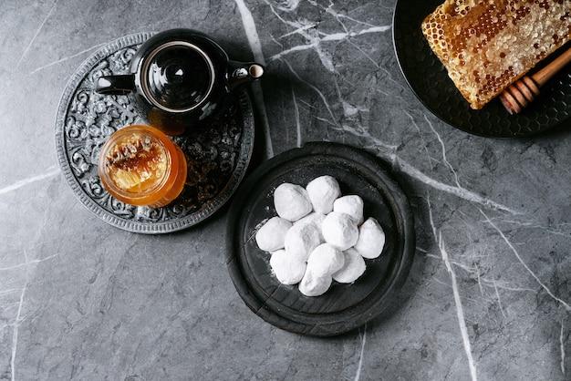 Variedade de biscoitos doces tradicionais gregos