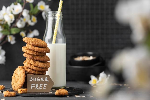 Variedade de biscoitos sem açúcar