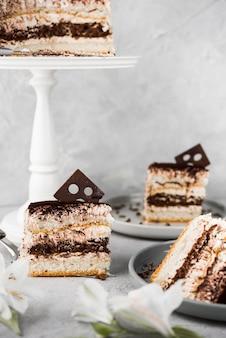 Variedade de bolo de chocolate