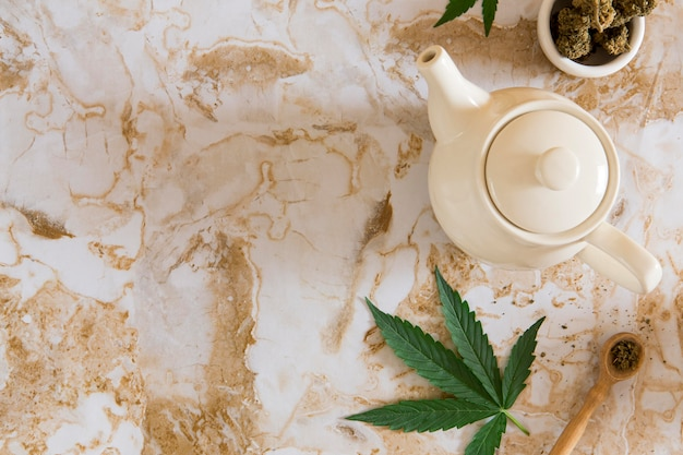 Variedade de chá cbd orgânico