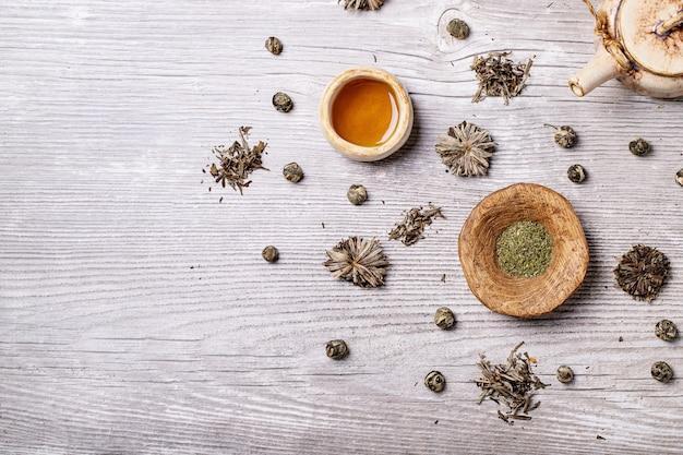 Variedade de chá verde