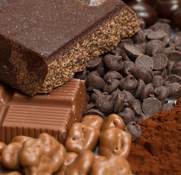 Variedade de chocolates