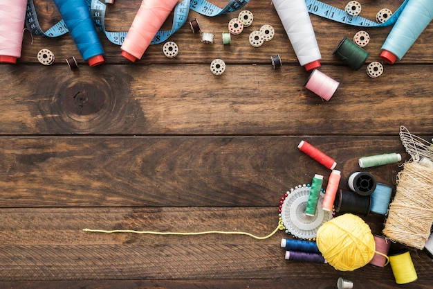 Variedade de coisas de costura