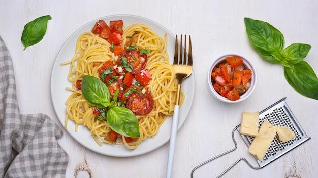 Variedade de comida local simples