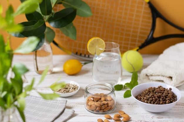 Variedade de complementos alimentares