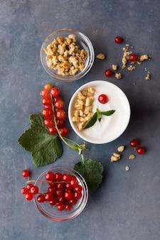 Variedade de conceito de comida saudável