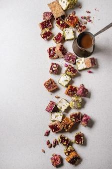 Variedade de delícia turca