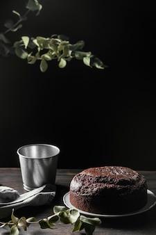 Variedade de delicioso bolo de chocolate