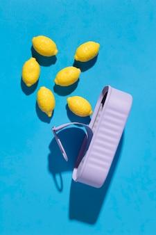 Variedade de deliciosos doces de limão