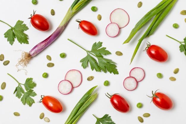 Variedade de deliciosos produtos maduros