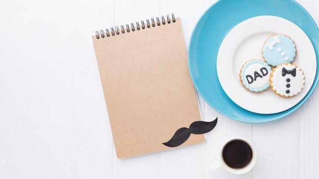 Variedade de dia dos pais com notebook