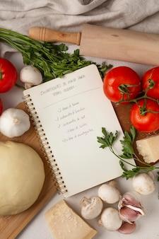 Variedade de diferentes ingredientes deliciosos