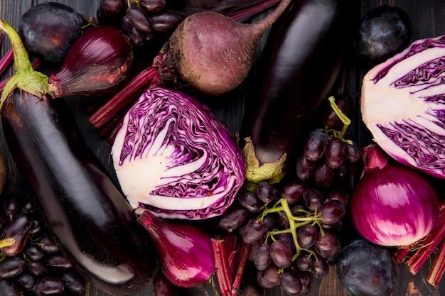 Variedade de diferentes vegetais e frutas