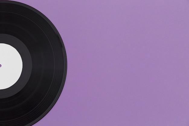 Variedade de discos de vinil de vista superior