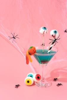 Variedade de elementos criativos de halloween