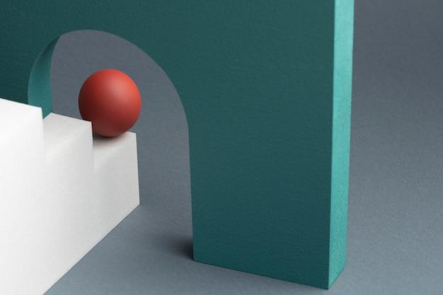 Variedade de elementos de design abstrato renderizados 3d