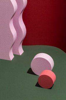 Variedade de elementos de design renderizados 3d