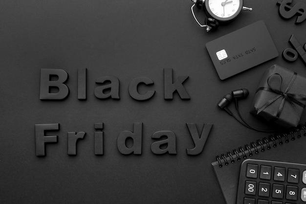 Variedade de elementos de vendas da black friday