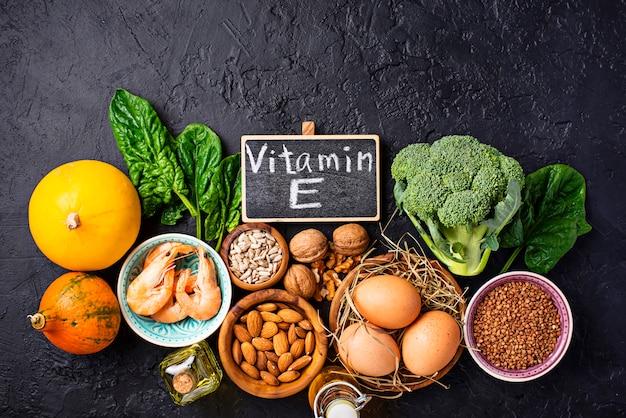 Variedade de fontes alimentares de vitamina e