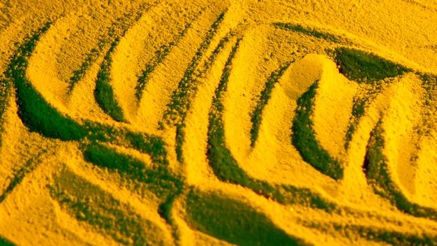 Variedade de formas de linha na areia