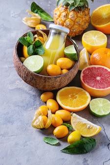 Variedade de frutas cítricas