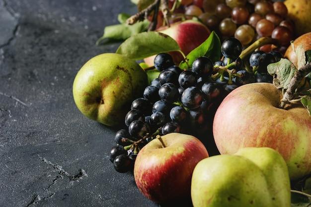 Variedade de frutas de outono