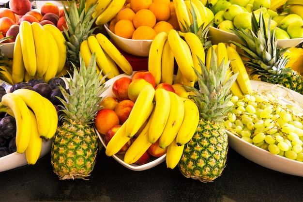 Variedade de fundo de frutas