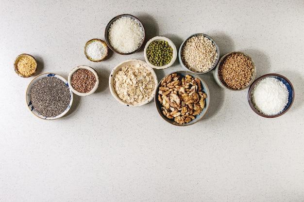 Variedade de grãos