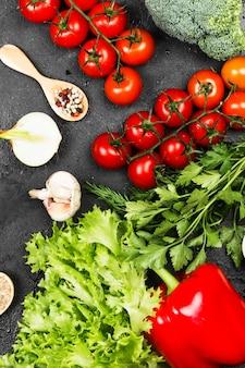 Variedade de legumes frescos