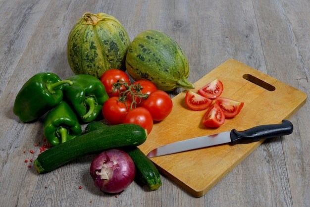 Variedade de legumes sazonais