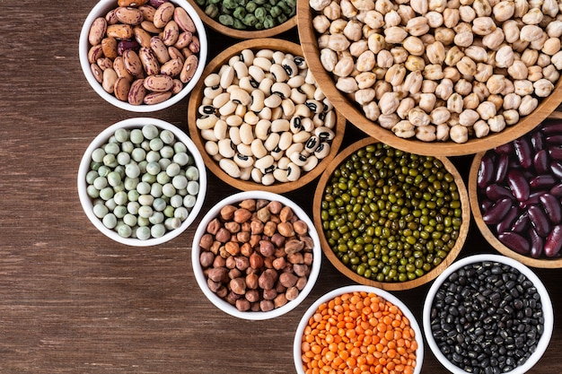 Variedade de leguminosas indianas