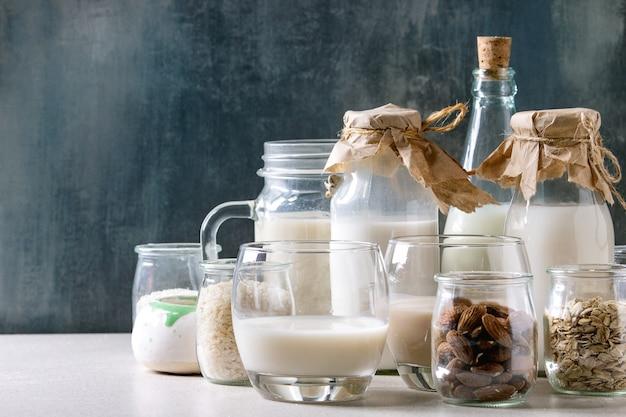 Variedade de leite não lácteo