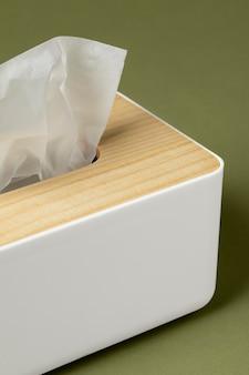 Variedade de lenços nasais brancos