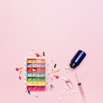 Variedade de medicamentos