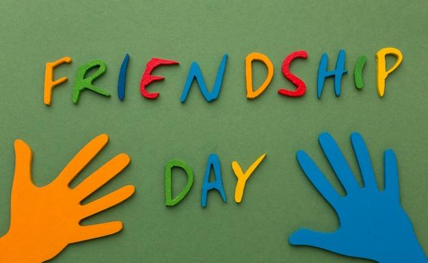Variedade de naturezas mortas para o dia da amizade
