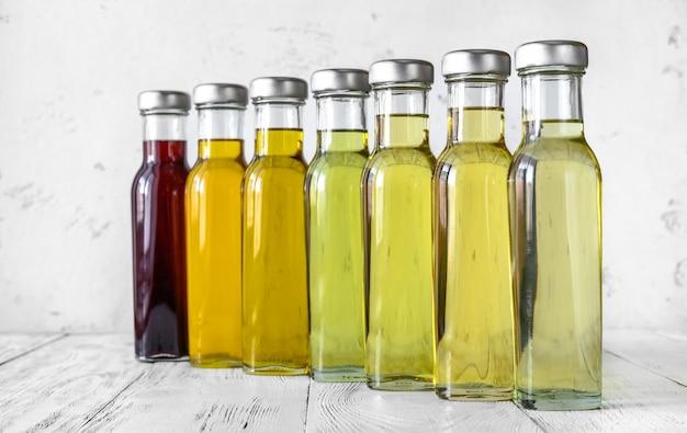Variedade de óleos vegetais