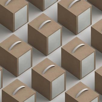 Variedade de pacotes de produtos de alto ângulo