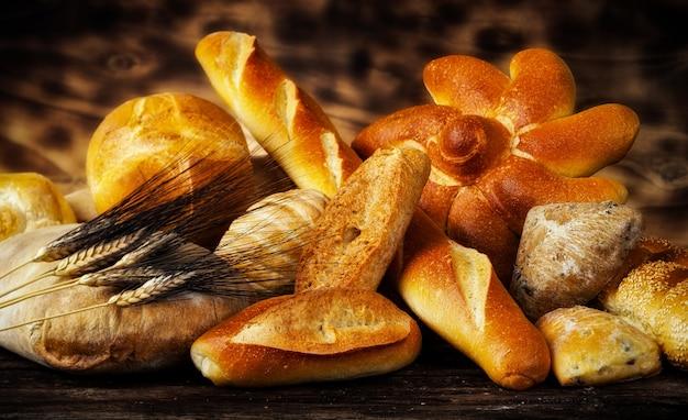 Variedade de pães